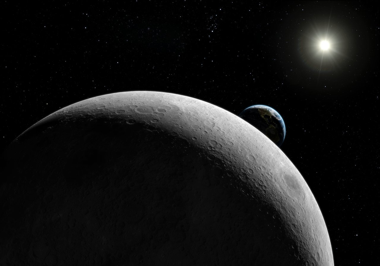 Far side of the Moon (artist's impression)