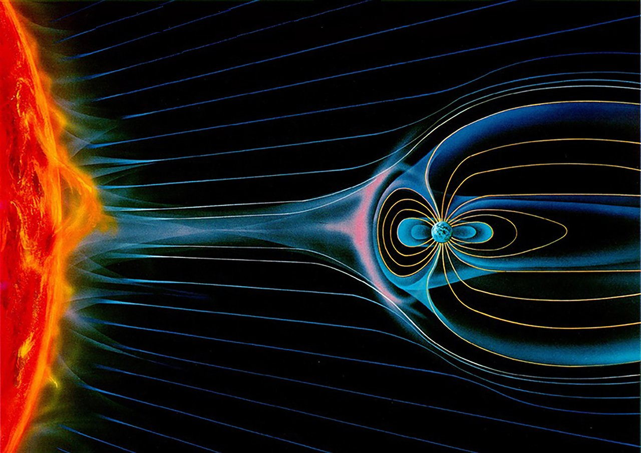 Artist's impression of solar wind