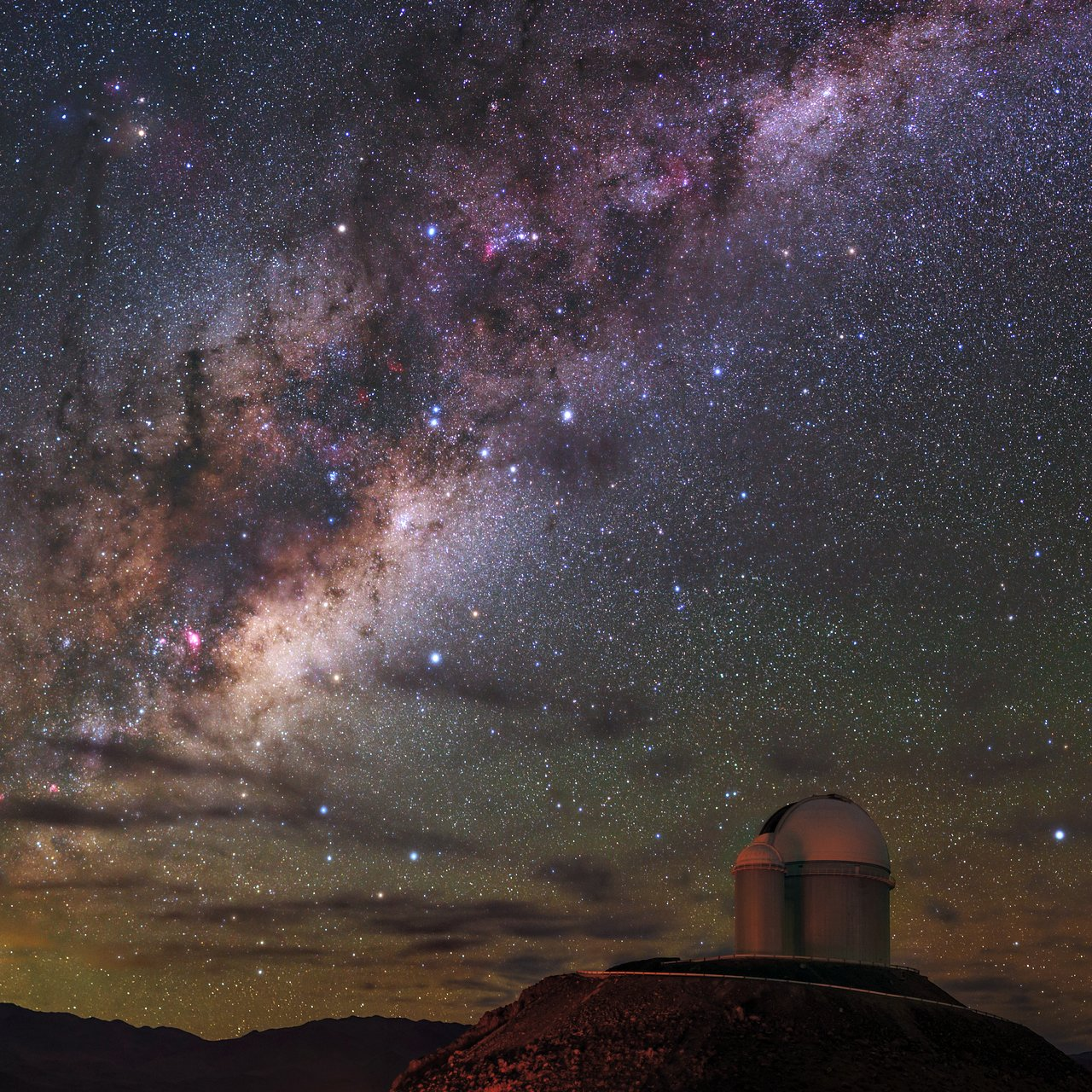 Radiance of the Milky Way over La Silla