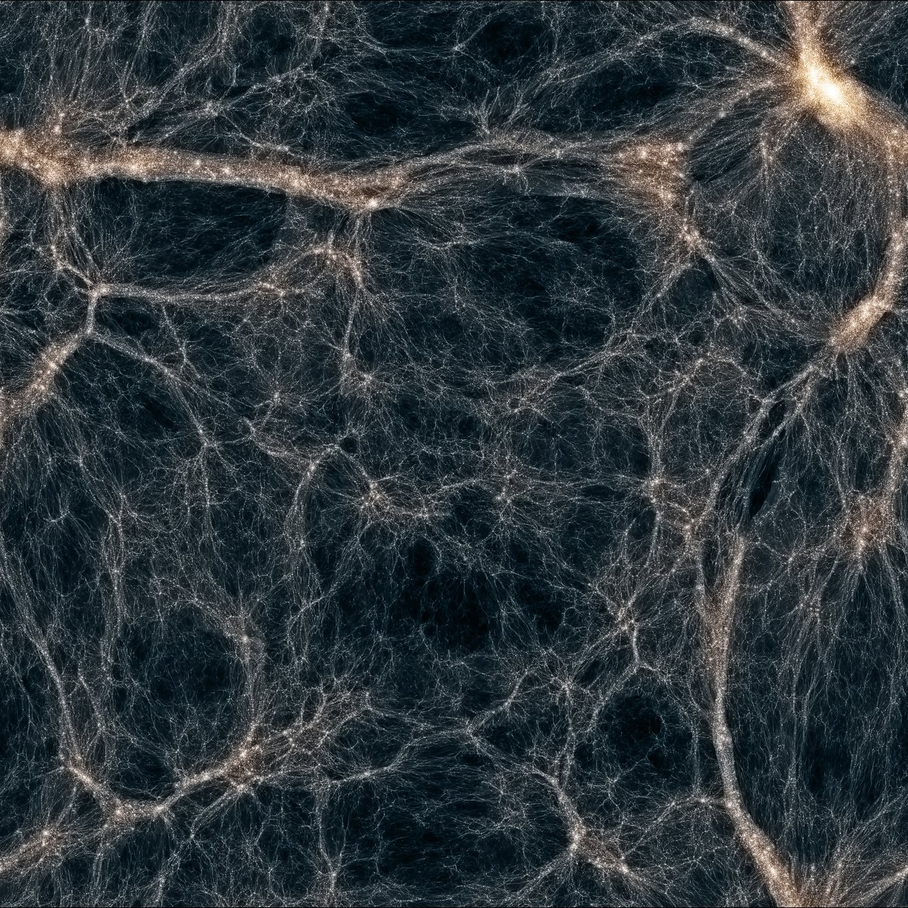 Cobweb of dark matter filaments