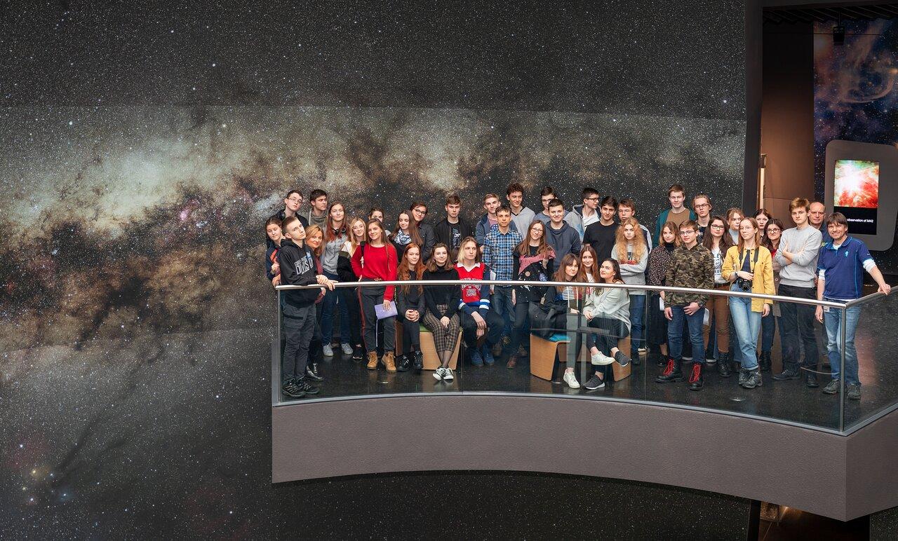 Polish students at ESO Supernova
