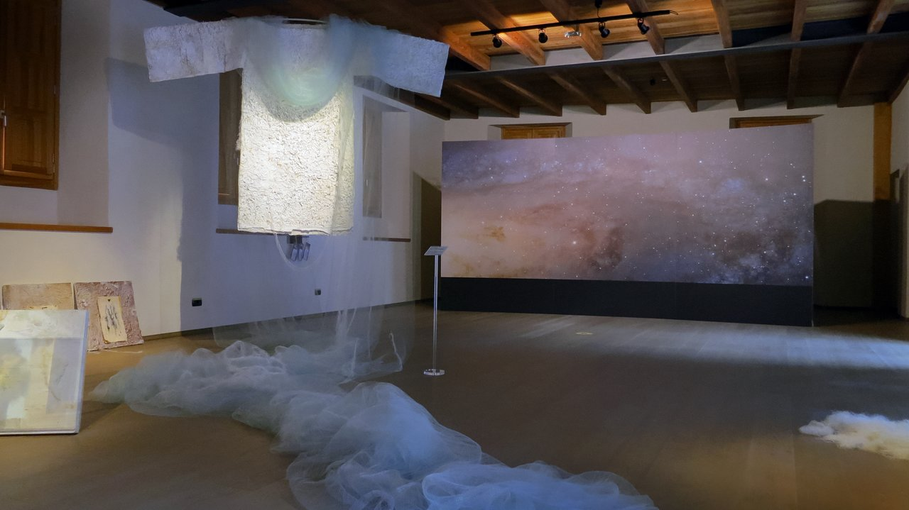 Art installation of Our Place in Space in Chiavenna