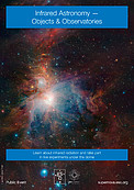 """Infrared Astronomy - Objects & Observatories"" poster"