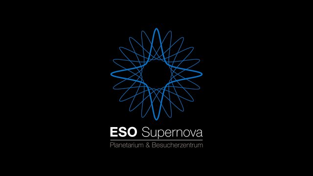 ESO Supernova Planetarium & Visitor Centre logo animation (German)
