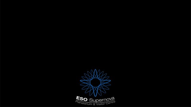 ESO Supernova Planetarium & Visitor Centre logo fulldome animation